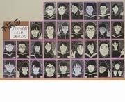 在校生の木版画の写真